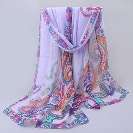 Ericdress Baroque Ultra Violet Pattern Floral Print Scarf