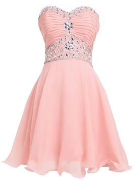 Ericdress Sweetheart Beadings Homecoming Mini a-line robe