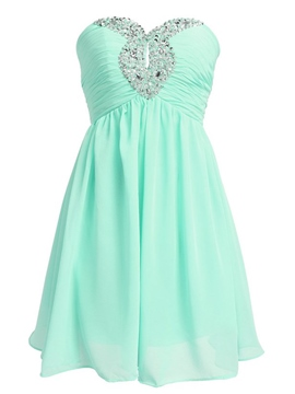 Ericdress a-ligne Sweetheart perles creuses court Homecoming robe