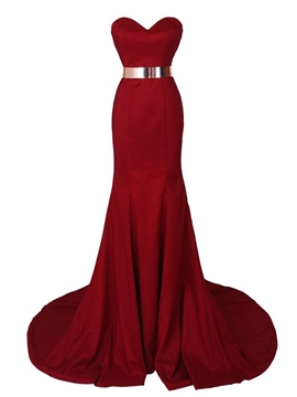 Ericdress Sweetheart Belt Mermaid Long Evening Dress