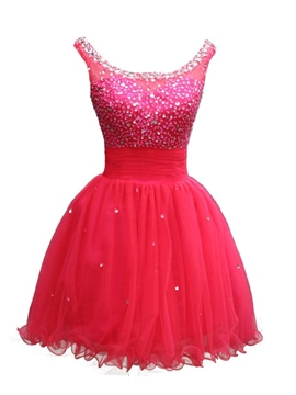 Scoop de Ericdress a-ligne de perles paillettes Homecoming robe