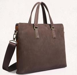 Ericdress Leather Plain European Men's Business Bag