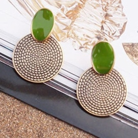 Ericdress Elegant Vintage Annual Ring Stud Earrings (Price For A Pair)