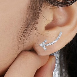 Ericdress Temperament Simple Design Arrow Zircon Earrings (Price For A Pair)