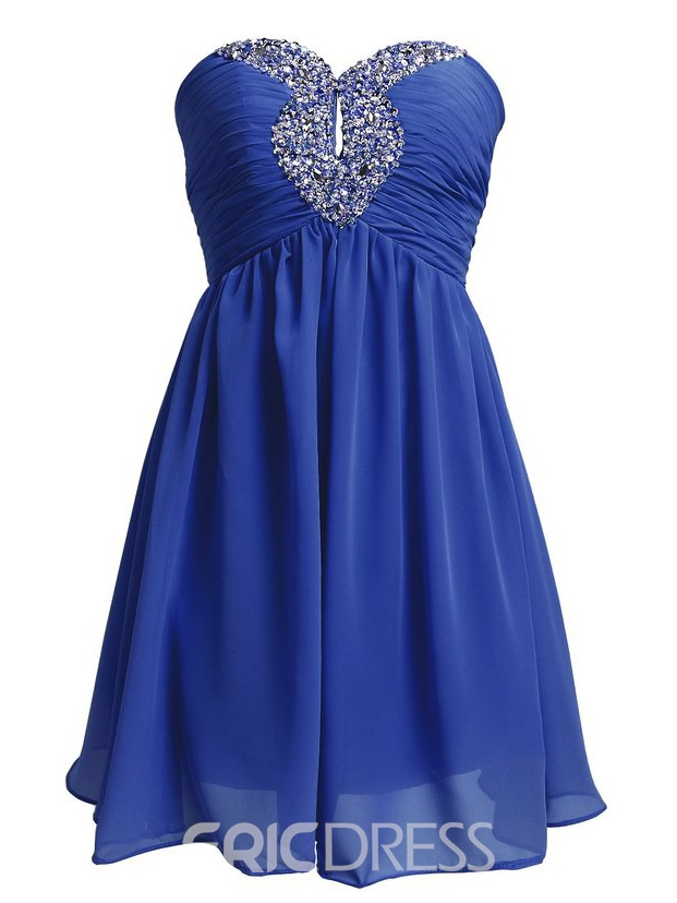 Ericdress A-line Sweetheart Beading Hollow Short Homecoming Dress