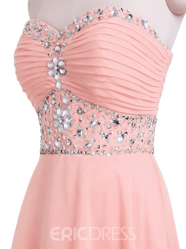 Ericdress Sweetheart Beadings A-Line Mini Homecoming Dress