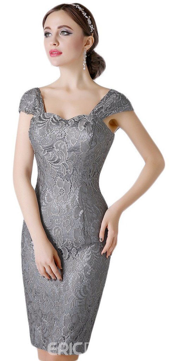 Ericdress Sheath Lace Knee Length Straps Mother of the Bride Dress with Jacket