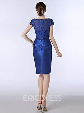 Ericdress Lace Knee Length Scoop Mother of the Bride Dress With Jacket