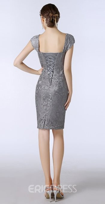 Ericdress Sheath Lace Knee Length Mother of the Bride Dress with Jacket