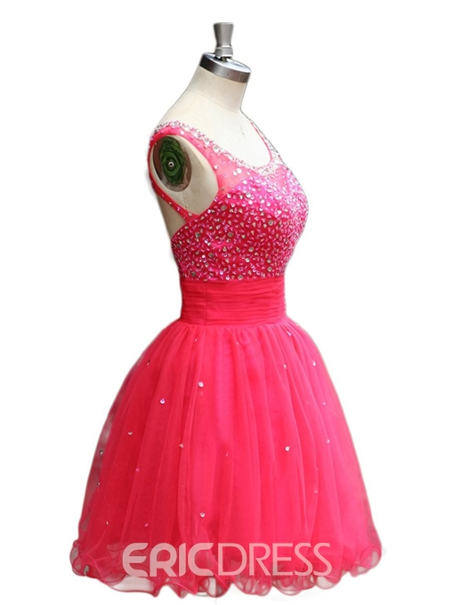 Ericdress Scoop A-Line Beaded Sequins Homecoming Dress