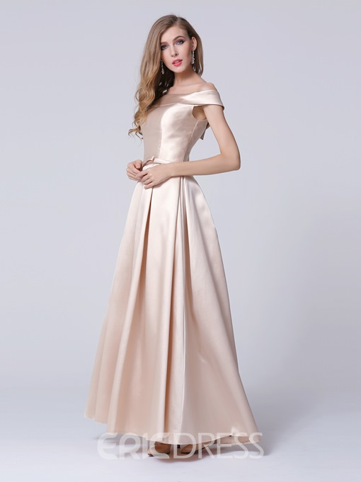 Ericdress Concise Off-The-Shoulder A-Line Long Evening Dress