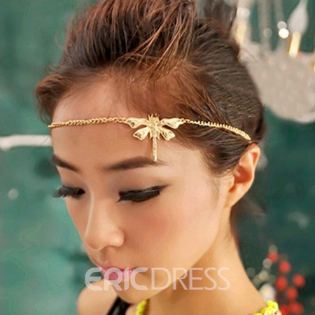 Fresh Dragonfly Shaped Little Rhinestone Decorated Headband