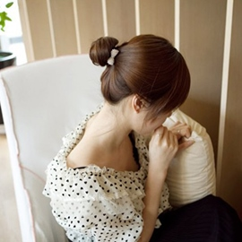 Ericdress Pearl Bow Knot Bangs Hair Clip