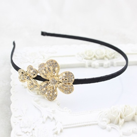 Ericdress Tri-Petal Flower Hair Clip