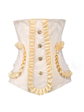 Ericdress Solid Color Button Decorated Corset