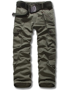 Ericdress Casual Olive Green Men's Casual Cargo Pants