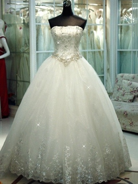 Ericdress Beading Appliques Ball Gown Wedding Dress