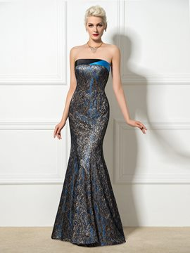 Ericdress Strapless Lace Long Mermaid Evening Dress