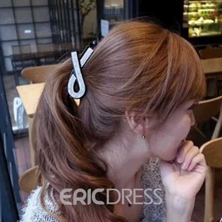 Ericdress Rhinestone Middle Jaw Hair Clip