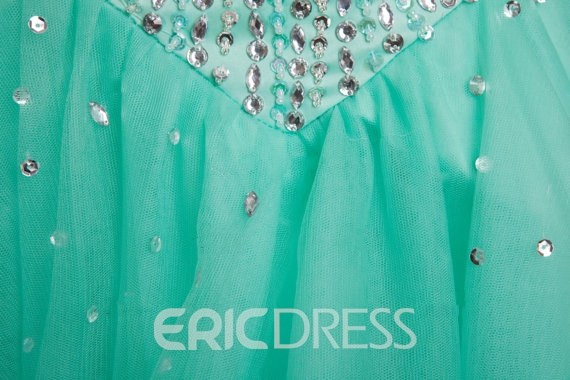 Ericdress Sweetheart Beaded Bodice Lace-Up Short Homecoming Dress