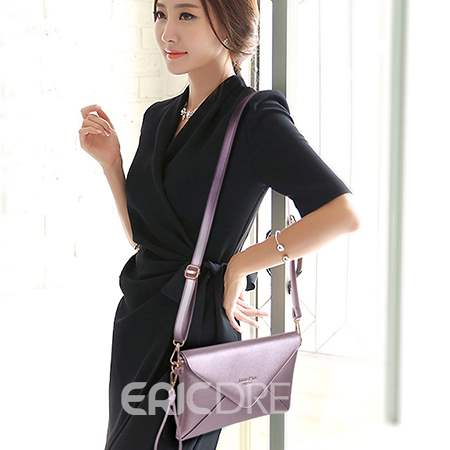 Vogue Solid Color Crossbody Tote Bag(5 Bags)