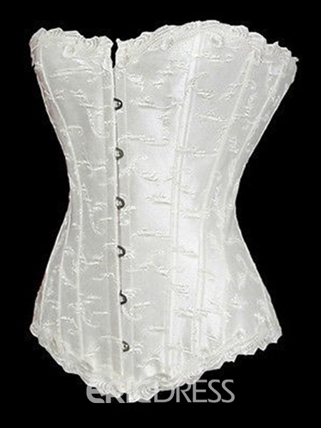 Ericdress Waist Trainer Cincher Overbust Lace-Up Off-Shoulder Corset