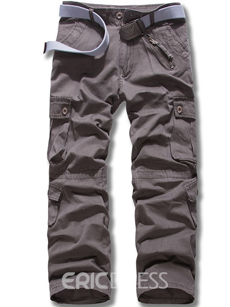 Ericdress Casual Thickened Multi-Pocket Men's Pants