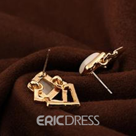 Ericdress Opal Stereo Square Earrings(Price For A Pair)