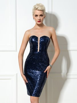 Ericdress Sweetheart Sequins Short Sheath Cocktail Dress
