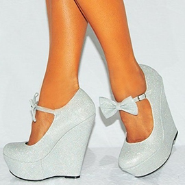 Silver Bowknot Decoration Wedges