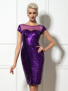 Pailletten-Cocktail-Kleid mit ericdress Pailletten