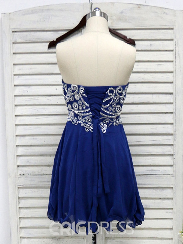 Ericdress Sweetheart Beaded Embroidery Homecoming Dress
