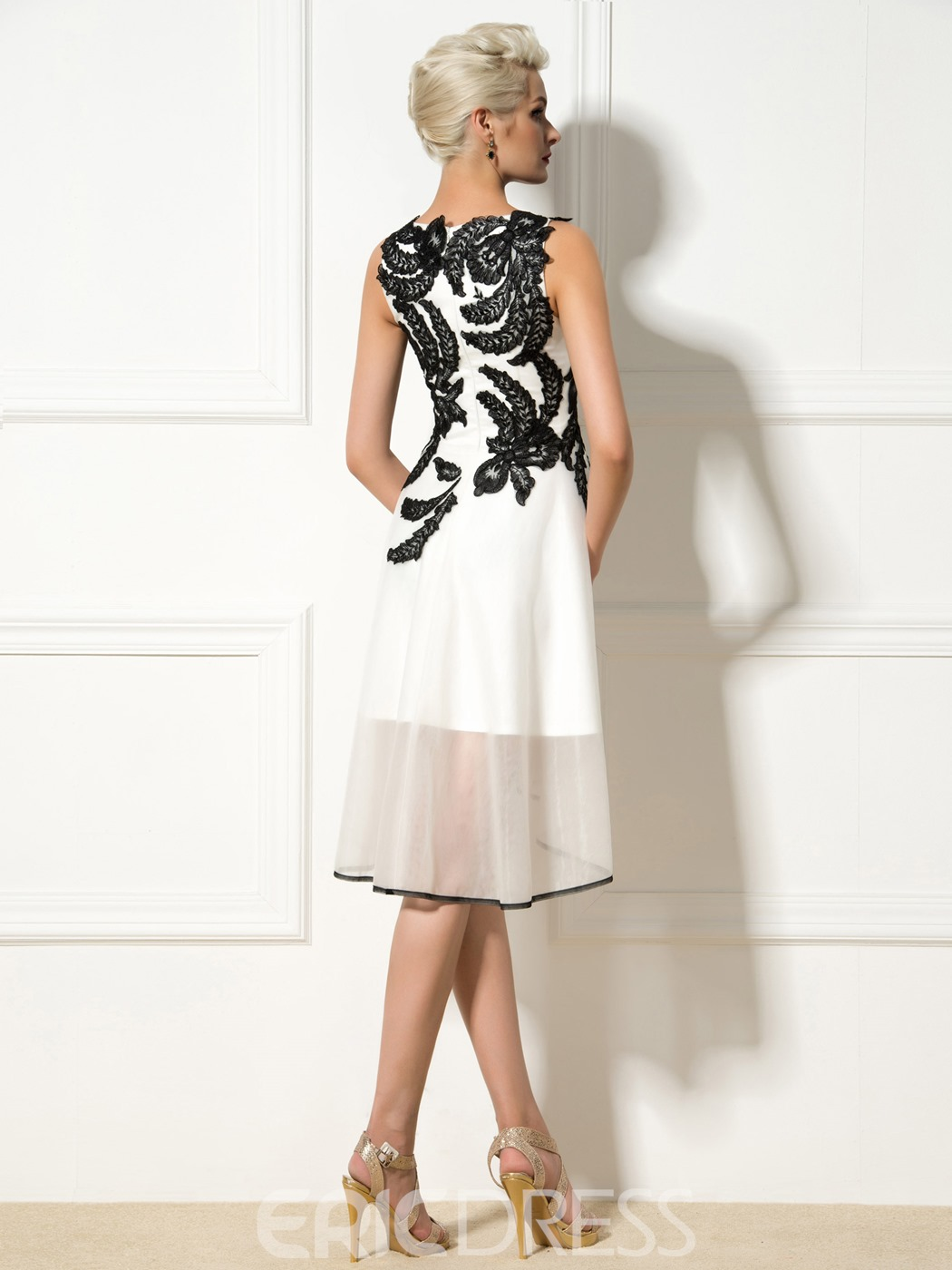 Ericdress A-Line Appliques Asymmetric-Length Cocktail Dress