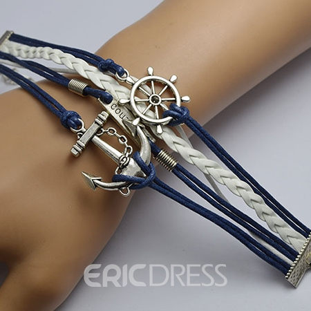 Vintage Anchor Decorated Multi-layer Bracelet