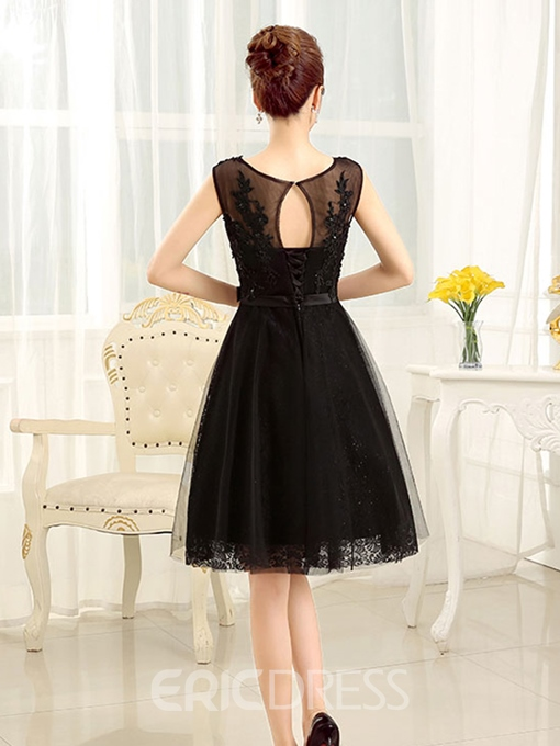 Ericdress A-Line Scoop Appliques Sequins Short Homecoming Dress