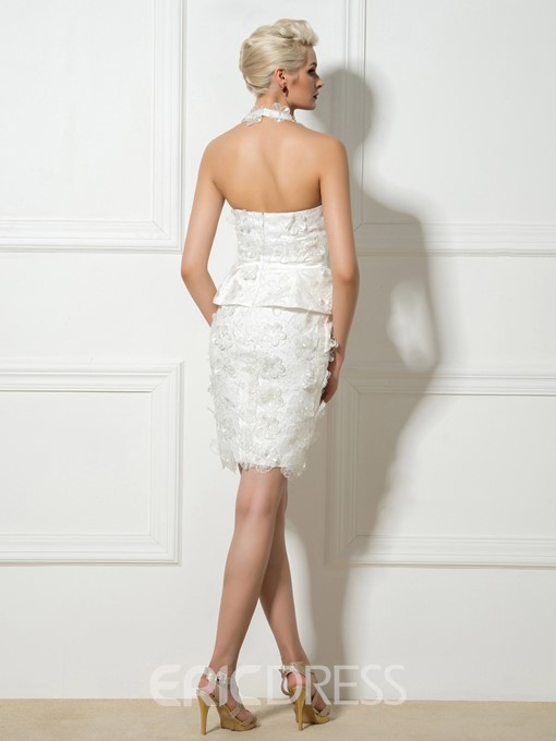 Ericdress Appliques Peplum Sheath Cocktail Dress