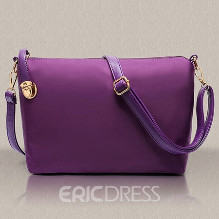Ericdress PU Pleated Plain Flap Bag set