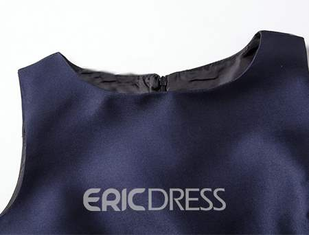 Vintage Ericdress Sleeveness impression Expansion robe occasionnelle