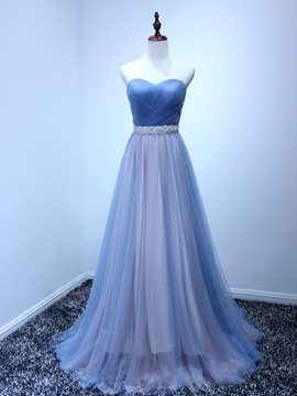 Ericdress A-Line Sweetheart Pleats Bowknot Lace-Up Evening Dress