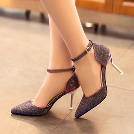 Shining Sequins Pointed-toe Pumps