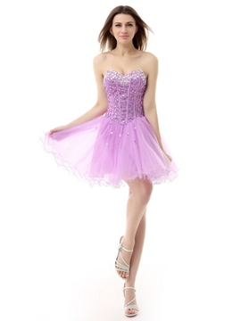 Ericdress Sweetheart perles robe lacets Homecoming court