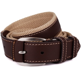 Ericdress Canvas Cowhide Patchwork Men's Belt
