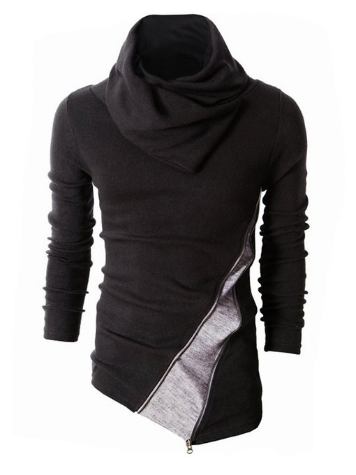 Ericdress Color Block Heap Collar Men's Sweater