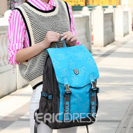 Ericdress Casual Cloud Print Backpack
