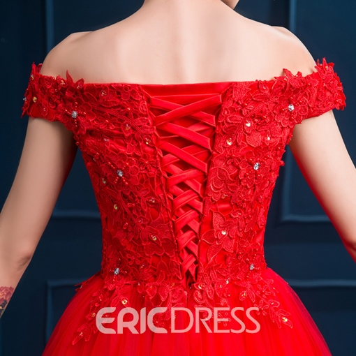 Ericdress Off-The-Shoulder Lace Sequins Short Homecoming Dress