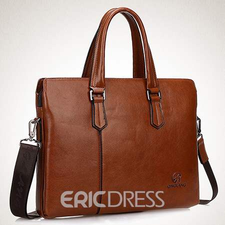 Ericdress England Plain Thread Rectangle Men's Shoulder Bags