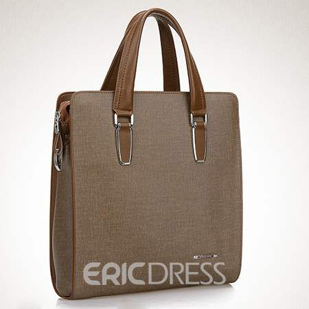 Ericdress European Plain Thread Rectangle Men's Tote Bags