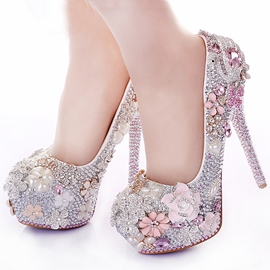 Ericdress luxe strass rose Prom Shoes