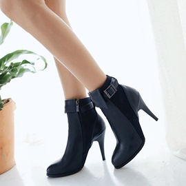 Ericdress High Heel Ankle Boots with Buckles