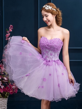 Ericdress Sweetheart applications perles court Homecoming robe